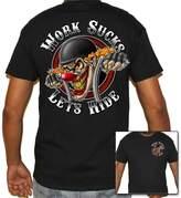 Biker Life Clothing Biker Life USA Work Sucks Clown Motorcycle T-Shirt