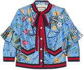 Gucci New flora silk jacket