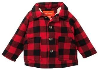 Joe Fresh Buffalo Plaid Faux Shearling Lined Jacket (Baby Boys)