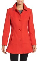 Kate Spade Women's Twill Ruffle Hem Coat