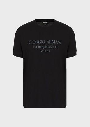 Giorgio Armani Borgonuovo T-Shirt In Viscose Jersey