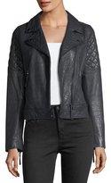 AG Jeans Larissa Lamb Leather Moto Jacket