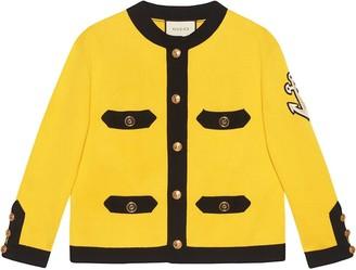 Gucci Long Sleeve Crew Neck Jacket Yellow