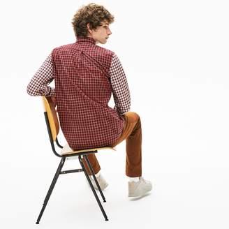 Lacoste Men's Mixed-Plaid Button Down Shirt