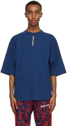 Palm Angels Navy NS Logo T-Shirt
