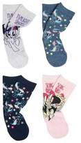Character Hasbro 4 Pair Pack of My Little Pony Ankle Socks,