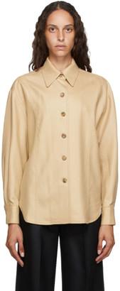 LVIR Tan Wool Oversized Shirt