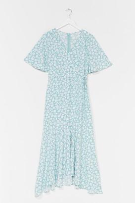 Nasty Gal Womens You've Got It Bud Floral Midi Dress - Green - 10