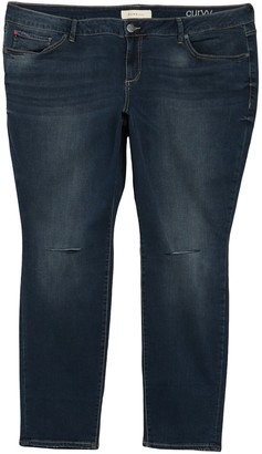SLINK Jeans Ripped Knee Stretch Skinny Jeans (Plus Size)