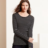 Ralph Lauren Striped Zip-Shoulder Top