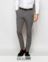 Selected Homme Exclusive Gingham Suit Trousers In Skinny Fit