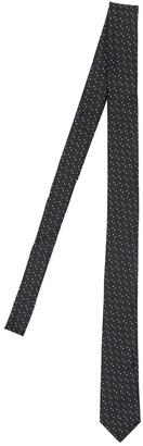 Saint Laurent 4cm Dots Jacquard Silk Tie