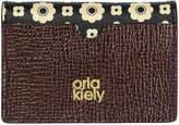 Orla Kiely Flower Foulard Card Wallet - Black/Cream