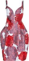 Paule Ka Floral Jacquard Embroidered Bubble Dress