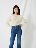 Maje Floaty blouse with romantic ruffles