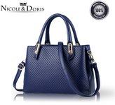 Nicole&Doris New Girl Shoulder Bag Backpack Schoolbag Daypack Travel Weave Pattern