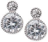 Lauren Ralph Lauren Double Crystal Bezel Stud Earrings