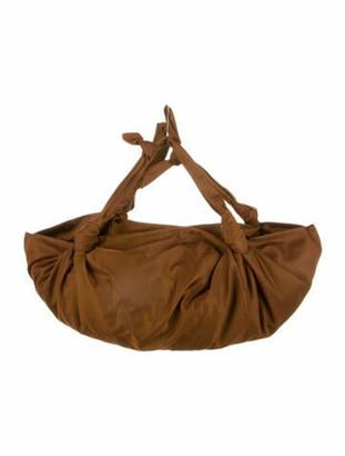 The Row Nylon Hobo Bag Brown