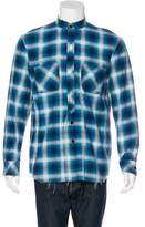 Number Nine Number (N)ine Distressed Plaid Flannel Shirt