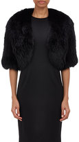 Barneys New York WOMEN'S FOX FUR SHRUG-BLACK