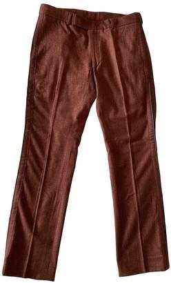 Salvatore Ferragamo Burgundy Wool Trousers