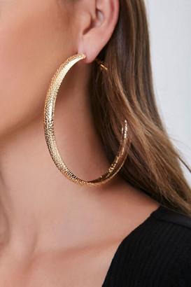 Forever 21 Pebbled Hoop Earrings