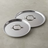 """All-Clad NS1 Nonstick Stainless-Steel 8"""" & 10"""" Lid Set"""