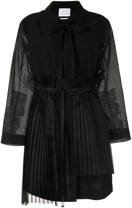 Shanshan Ruan Pleated Detail Coat