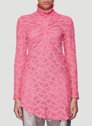 Sies Marjan Lace Asymmetric Ruched Top