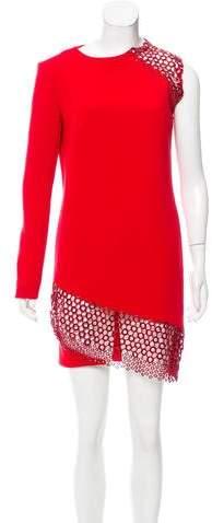 Anthony Vaccarello Asymmetrical Mini Dress