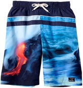 Big Chill Lava Swim Trunks - UPF 50 (For Little Boys)