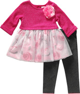 Sweet Heart Rose Fuchsia Rose Tunic & Leggings - Infant