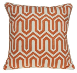 Parkland Collection Machu Transitional Multicolored Pillow Cover With Down Insert