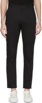 Isabel Benenato Black Cotton 5-pocket Trousers