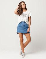 Roxy Take This Denim Mini Skirt