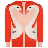 Stella McCartney KidsGirls Red Swan Cardigan