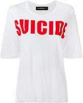 Filles a papa front print T-shirt - women - Viscose - 2