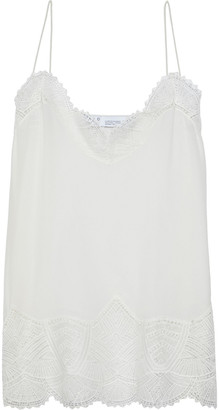 IRO Strive Lace-trimmed Washed-silk Camisole
