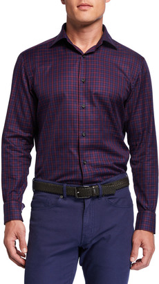 Neiman Marcus Men's Check Sport Shirt