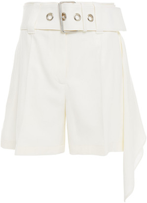 J.W.Anderson Belted Draped Wool Shorts