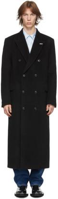 Eytys Black Double-Breasted Genesis Coat
