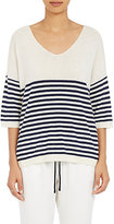 ATM Anthony Thomas Melillo Women's Fine-Gauge Sweater-IVORY, NAVY, NUDE