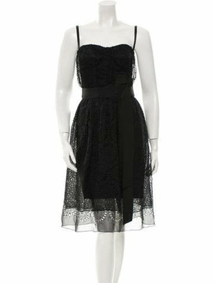 Dolce & Gabbana Sleeveless Eyelet Dress w/ Tags Black