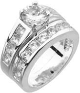 Dillard's Dillard s Boxed Collection Cubic Zirconia Engagement Ring & Wedding Band Set