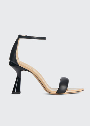 Givenchy 95mm Carene Napa Ankle-Strap Sandals
