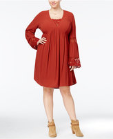 American Rag Trendy Plus Size Babydoll Peasant Dress, Only at Macy's