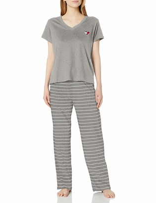 Tommy Hilfiger Women's Top and Logo Pant Lounge Bottom Pajama Set Pj