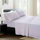 Simple Simple&Opulence Linen Cotton Blend Sheet Set 4PCS Solid Color (Full, White)
