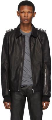 Rick Owens Black Leather Rotterdam Jacket