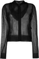 Theory sheer zipper cardigan - women - Viscose - S